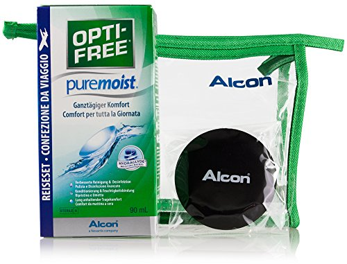 Alcon Optifree Puremoist 2x300ml Kontaktlinsen-Pflegemittel inkl. Reise-Set 90ml (Opti-Free) - 5
