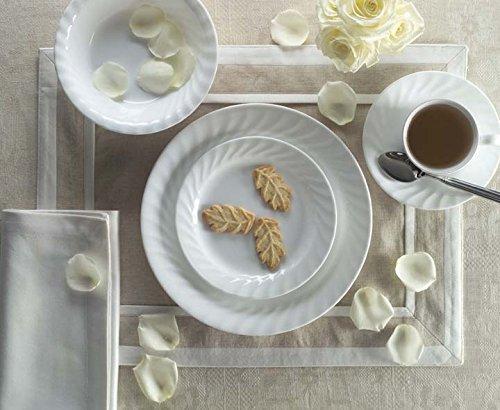 Corelle 16-Piece Vitrelle Glass Enhancements Chip and Break Resistant Dinner Set, Service for 4, White