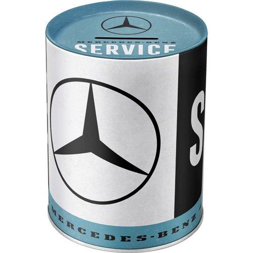 Nostalgic-Art 31020 Mercedes-Benz - Service | Retro Spardose | Spar-Büchse | Geld-Dose | abnehmbarer Deckel | Metall
