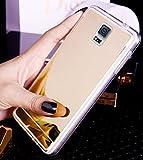 Galaxy S5 Hülle,Galaxy S5 Neo Hülle,Galaxy S5 / S5 Neo Hülle,ikasus® [Bling Glitzer Kristall Spiegel Hülle] Galaxy S5 Silikon Hülle,Glänzend Glitzer Kristall Überzug Mirror Spiegel Muster Stoßdämpfend TPU Silikon Schutz Handy Hülle Case Tasche Silikon Crystal Case Schutzhülle Etui Bumper für Samsung Galaxy S5 G900 / S5 Neo SM-G903F - Gold