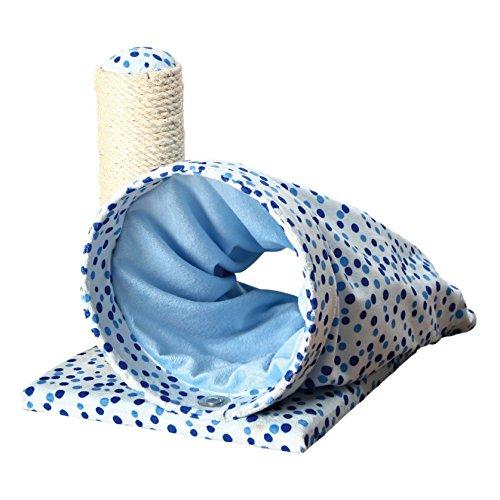 Callisto Bekleidung (Trixie Callisto Katzen Kratz Posten (32 cm) (Blau))