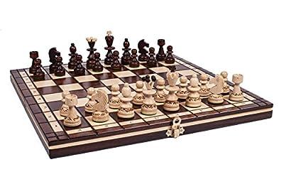Woodeyland Jeu d'échecs en bois PEARL 35x35 cm