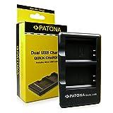 PATONA 2in1 Dual Caricabatteria LP-E10 per Batteria Canon EOS 1100D EOS 1200D EOS Rebel T3 con micro USB