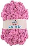 maDDma ® Pompon Strickgarn/Wolle MAXI TEDDY 200 g #55 rosa