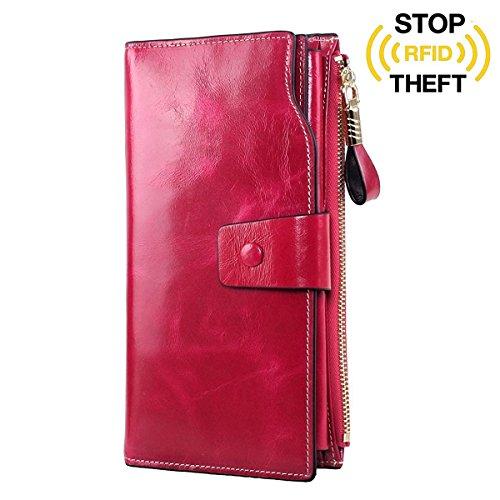 gdtk-womens-large-capacity-luxury-wax-genuine-leather-purse-wallet-rose-red-rfid-blocking
