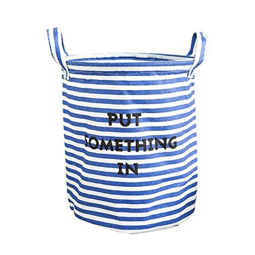 Malloom® Wasserdichte Tier Leinwand Bettwäsche Wäscherei Kleidung Korb Falten Aufbewahrungsbox (C) (Offen Bin Toy Storage)