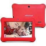 """Alldaymall - tablette tactile enfant 7"""", Quad Core, Android, appareil photo, 1GB + 8GB, écran HD(2016 Nouveau modèle, avec étui silicone Rouge)"""