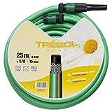 SATURNIA 8070667 Manguera Verde Trebol Trenzado 15 mm. - 5/8 Rollo 15 metros Con Accesorios
