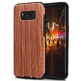 TENDLIN Samsung Galaxy S8 Plus Hülle Holz Flexiblem TPU Silikon Hybrid Weiche Schutzhülle für Samsung Galaxy S8 Plus (Rotes Sandelholz)