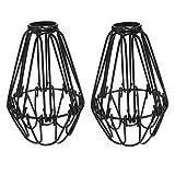 KUYIYILO Vintage Cage Lampenschirm Retro Industrielle Metall DIY Stehleuchte Anhänger 4,13 Zoll Küche Penthouse Flur Geräumige Halter Zubehör Schlafzimmer Bar Cafe Shop Salon Restaurant