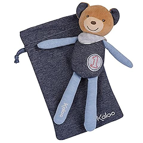 Kaloo Ours Bleu - Kaloo Blue Denim - Peluche Ours Baby