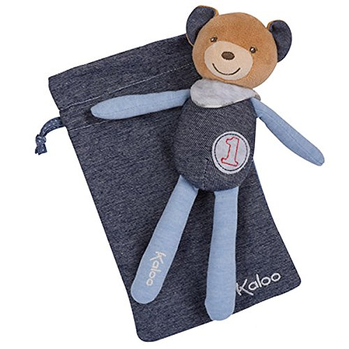 Kaloo K960077 - Blue Denim Puppe Bärenjunge Im Beutel -