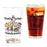 CafePress–Peanuts Glück ist Freundschaft–Pint-Glas