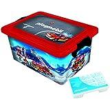 Playmobil - 064671 - Grande Boîte de Rangement 23 L + Boîte compartimentée - Pompiers