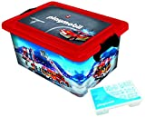 PLAYMOBIL 064671 Große Aufbewahrungsbox 23l + Box für Kleinteile, Motiv Feuerwehr