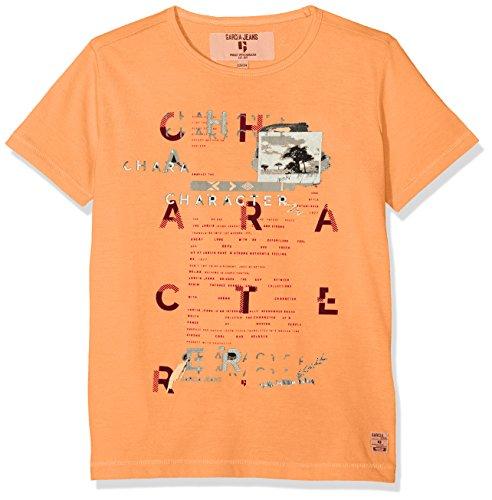 Garcia Kids Jungen T-Shirt P83600, Orange (Neon Carrot 2644), 164 (Herstellergröße: 164/170)