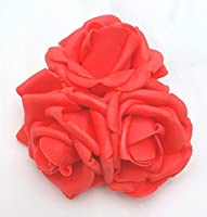 Coral Roses Cluster Artificial Hair Flowers Corsage Clip Hand Made in Uk. S1