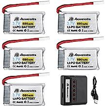 Powerextra 5Pcs Batería LiPo 680mAh con 5 en 1 Cargador de Batería para Syma X5 X5C X5SW X5SC-1 CX-3W CX-31 UDI45 Drone Quadcopter