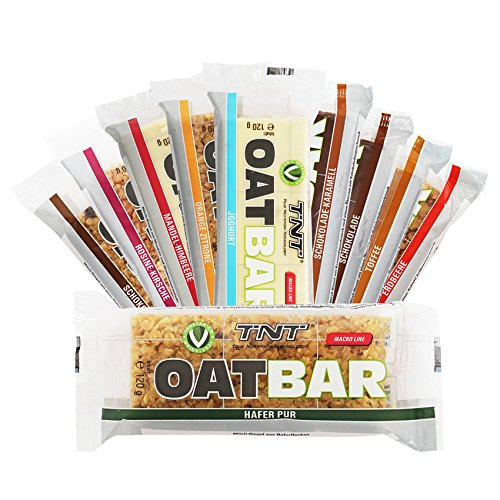 Energieriegel – Oat Bar Energy Cake – Power Riegel, Fitness-Riegel, Haferriegel / 30 x 120 g - Schoko-Chip (Schoko-haferflocken)