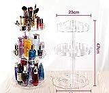 takestop® Regal Regale Plexiglas 3D Rotation 360Grad Blume Tür Gegenstände 3Ablagen 7006Organizer Make Up Nail Art Lippenstifte