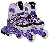 Kinder Inline Skates Nils Extreme NJ9128A Inliner Rollschuhe (Violet, 30-33)