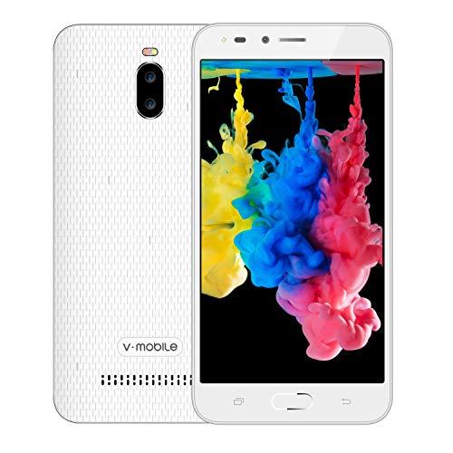 Moviles Libres Baratos,V Mobile A13 Android 8.1 Oreo 5.5 Pouce 24GB 3000mAh Batterie 5MP Cámara Doble SIM 3G Smartphone Baratos Libres (Blanco)