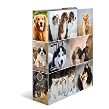 HERMA Lever Arch File Animals with Dogs Motif, A4, 70 mm Spine, with Inner Print, 1 Folder