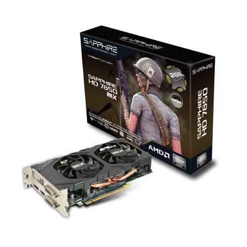 Sapphire ATI Radeon HD 7850 Grafikkarte (PCI-e, 2GB GDDR5 Speicher, DVI-I, DVI-D, HDMI, DisplayPort, 1 GPU)