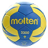 Molten HX2200 - Balón de Balonmano,  categoría Infantiles, Amarillo y Azul, Talla 1