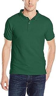 IZOD Uniform Young Men's Short Sleeve Pique Polo, Hunter, Medium