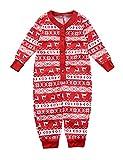 BESBOMIG Festliche Passende Familie Pyjamas Schlafanzug für Weihnachten Jumpsuit Homewear Outfit für Kinder, Jungen, Mädchen, Erwachsene Eltern- Gr. 90cm/9-12Monat für Baby