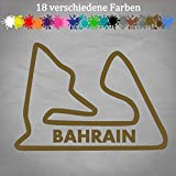 Bahrain Rennstrecke Aufkleber 17x12cm Formel 1 Tack Layout Grand Prix F1 Manama in 18 Farben