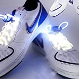 JIALUN- LED Warmes Weiß RGB 1 Paar 80 cm Glow Schnürsenkel LED Sport Schnürsenkel Glow Stick Blinkt Neon Leuchtend Schnürsenkel ( Color : White )