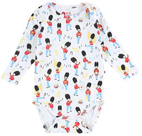 Piccalilly Coton Bio Multicolore Unisexe Stade Bondé Body pour bébé - Blanc - Nouveau-né