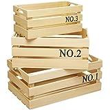 Kitchen Craft Natural Elements madera de Paulownia cajas de almacenamiento, juego de 3