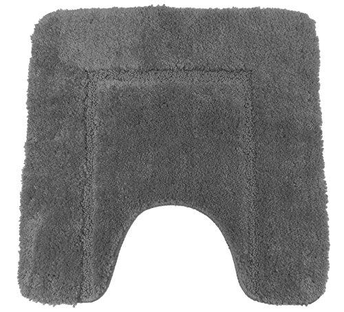 Weiches Grau cashmere-feel Chenille Rutsch WC-Vorleger 50x 50cm