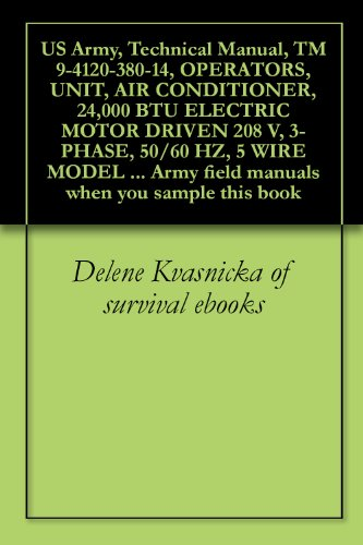 US Army, Technical Manual, TM 9-4120-380-14, OPERATORS, UNIT, AIR CONDITIONER, 24,000 BTU ELECTRIC MOTOR DRIVEN 208 V, 3-PHASE, 50/60 HZ, 5 WIRE MODEL ... when you sample this book (English Edition) (60 Hz-motor)