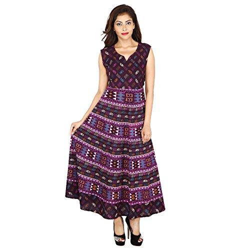 JR Print Women's Long Dress Jaipuri Animal Geometric Print Cotton  available at amazon for Rs.429