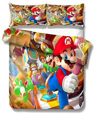 3D Super Mario Bros Fundas edredón niños Muchachos