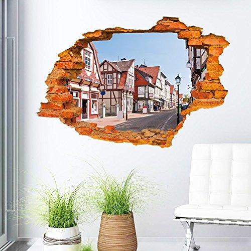 YUCH Sticker Mural Ornement Chambre Peut Enlever Autocollant Imperméable