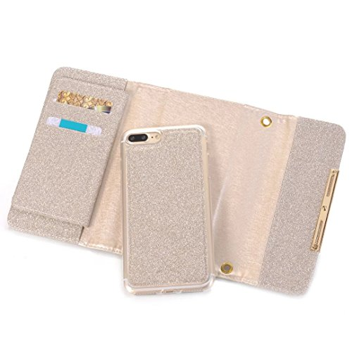 Wkae Case Cover iPhone Case Plus 7, Diamant Lattice cas de motif, étui en cuir PU Housse TPU souple avec dragonne Support Wallet Case pour Apple iPhone7 plus by DIEBELLEU ( Color : 6 , Size : Iphone 7 7