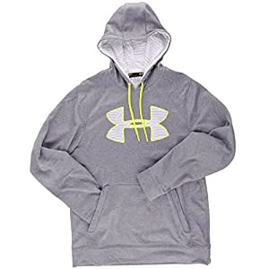 Under Armour Herren Sweatshirt AF Big Logo Hoody, grau/weiss/alu (25), S (SM)