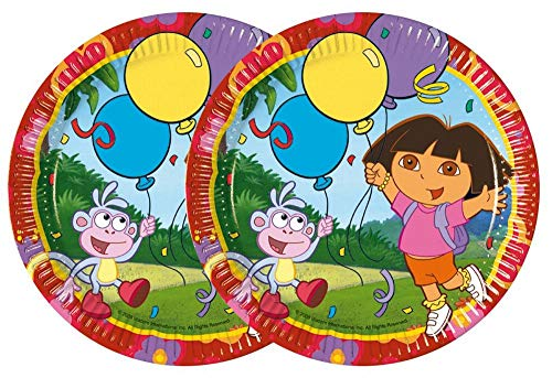 10 Teller 19,5 cm Dora Dora's Party