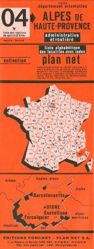 Carte routière : Alpes-de-Haute-Provence