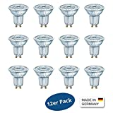 OSRAM LED BASE PAR16 GLAS 4,3W=50W 350lm neutral white 4000K nondim Germany 12er