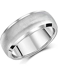 4a35bc664acd 8mm Men s Titanium Ring Comfort Fit Matt   Polished Engagement Wedding Band  Unisex Classic Ring
