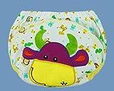 12 Stück MULTIFUNKTION Baby Unterhosen – Wasserdicht Wiederverwendbare Waschbare Elastische Baby Windeln Windelhose / Unterwäsche zum Toilettentraining Töpfchentraining Trainerhose, Baumwolle, Cartoon Pattern, Größe L für ca. 16kg - 9