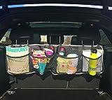 Tidy Ridey Organizador de maletero–plegable–almacenaje para coche - ideal para accesorios, herramientas de limpieza de coche y cables de arranque–almacenamiento fácil, versátil y cómodo