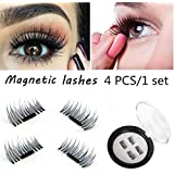 CGT 3D Magnetic Eyelashes For Women Natural Thick Long False Eyelashes,Reusable Ultra Thin Eyelash That Can Be...