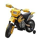 Festnight- Motocicletta per Bambini/Minimoto Cross elettrica per Bambini, Gialla